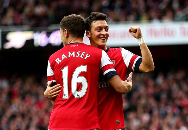 Premier League Team of the Week: Ozil & Ramsey feature again as Townsend earns spot
