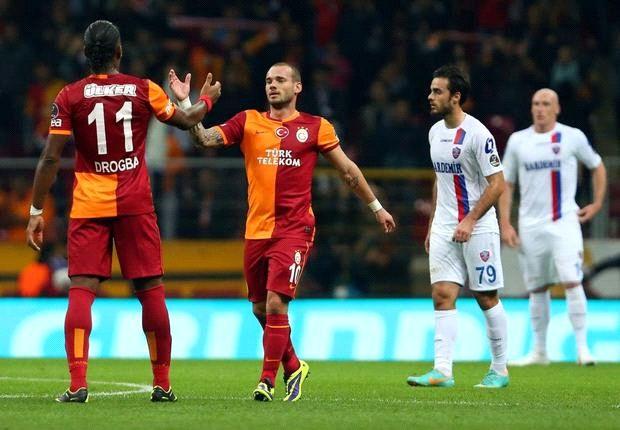 Galatasaray midfielder Wesley Sneijder
