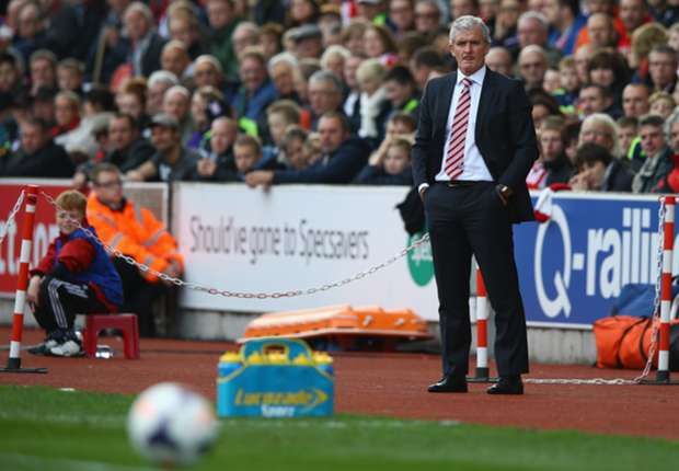 Stoke City boss Hughes concerned by barren spell in front of goal