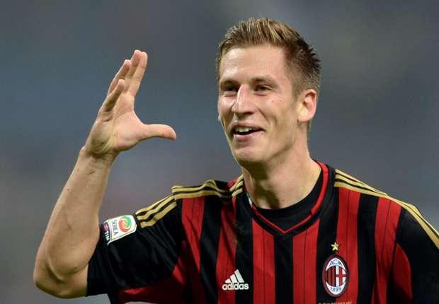 Milan midfielder Valter Birsa