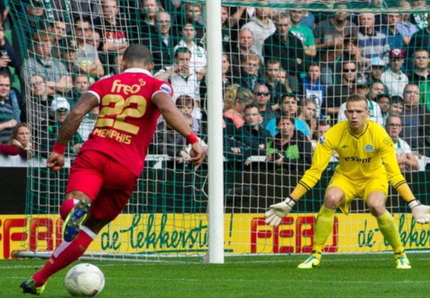 Dure nederlaag PSV in Euroborg