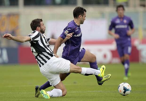Giuseppi Rossi erzielte gegen Juventus Turin drei Tore für Florenz