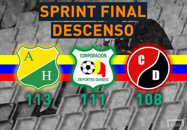 Huila, Quindío y Cúcuta comienzan el sprint final por no descender
