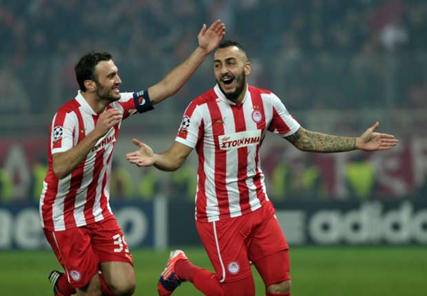 Olympiacos striker Kostas Mitroglou