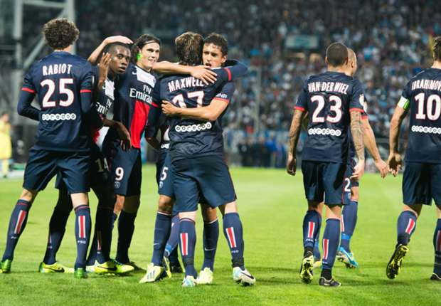PSG players celebrate