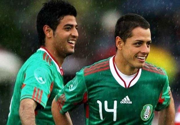 Mit der Nationalelf wollen sie zur WM nach Brasilien: Chicharito und Carlos Vela