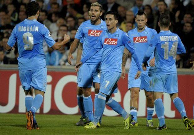 Napoli wint eenvoudig van Marseille