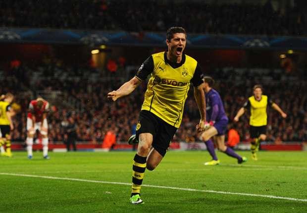 Arsenal 1-2 Borussia Dortmund: Lewandowski goal downs Gunners