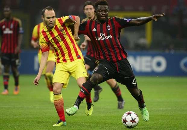 Umkämpft: Milan und Barca trennten sich Unentschieden