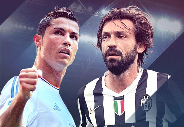 Ronaldo y Pirlo, las figuras de cada equipo