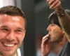 Podolski reacts to Low's sniff