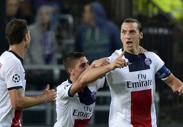 Anderlecht 0-5 Paris Saint-Germain: Sublime Ibrahimovic scores four as Parisiens run riot