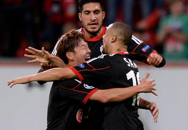 Bayer Leverkusen 4-0 Shakhtar Donetsk: Kiessling double helps bury Miners
