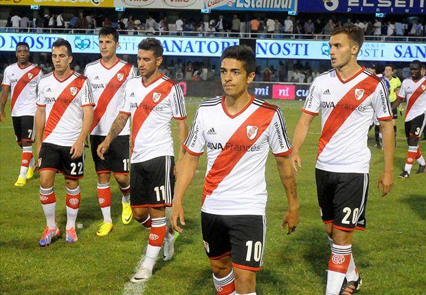River le metió dos goles a Atlético de Rafaela, pero fueron injustamente anulados.