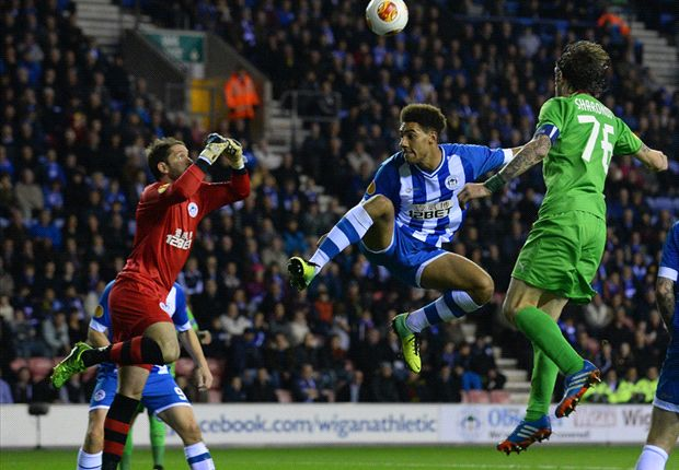 Wigan 1-1 Rubin Kazan: Powell saves point for Latics
