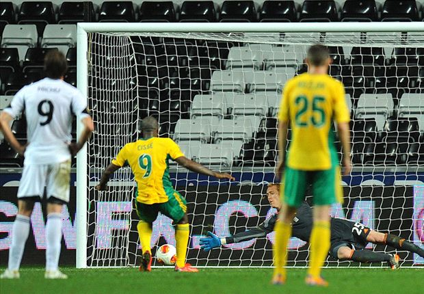 Swansea City 1-1 Kuban Krasnodar: Late Cisse penalty denies hosts victory