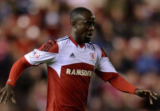 Middlesbrough winger Albert Adomah
