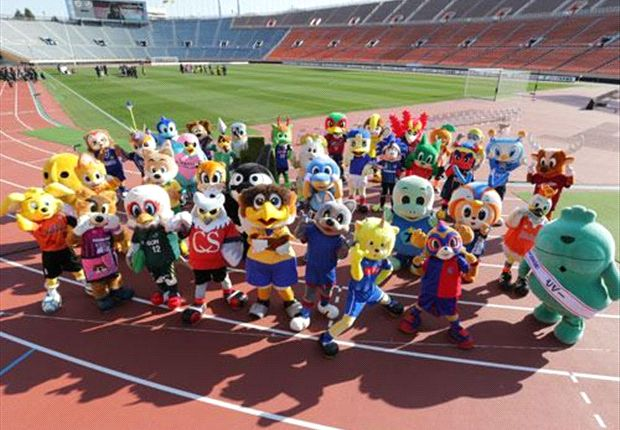 The J-League's mascots: bringing color to the pitch