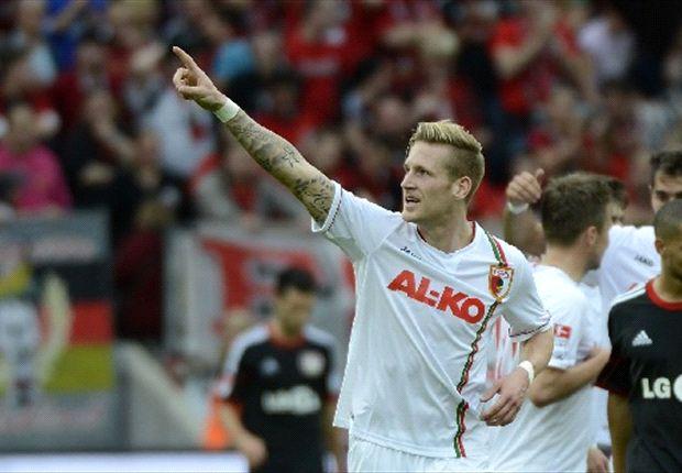 Hahn konnte zwar für Augsburg gegen Bayer jubeln, aber sein Treffer reichte nicht zum Punktgewinn