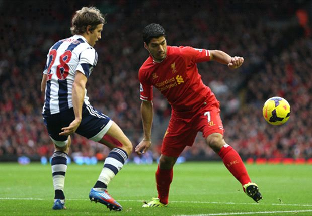 Liverpool 4-1 West Brom: Stunning Suarez hat trick blows Baggies to bits