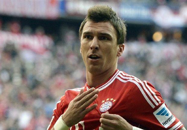 Noch Mittelstürmer Nummer eins bei den Bayern ist Mario Mandzukic
