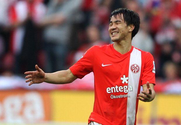 Will auch gegen den BVB jubeln - Mainz' Shinji Okazaki