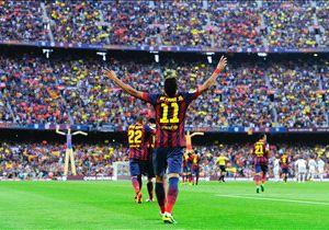 26-10-2013 | Premier Clásico et un but pour le 1-0 dans un match qui se termine par une victoire des Blaugrana (2-1).