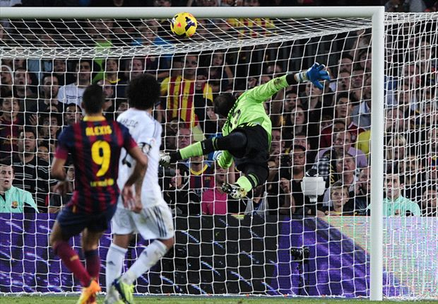 Sanchez floats a sublime chip over Real Madrid goalkeeper Diego Lopez.