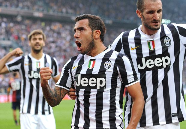 Juventus 2-0 Genoa: Vidal and Tevez get champion back to winning ways