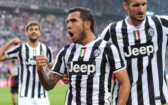 Carlos Tevez Juventus Genoa Serie A