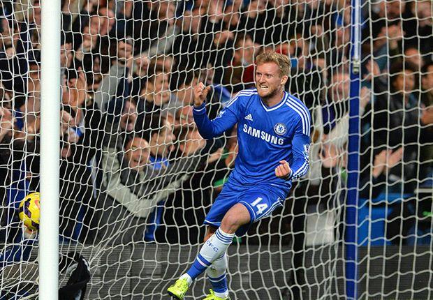 Andre Schürrle feierte gegen City sein ersten EPL-Tor für Chelsea