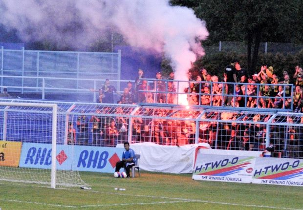 S.League match in Pasir Gudang, Johor, abandoned after flares and smoke bombs hurled onto pitch