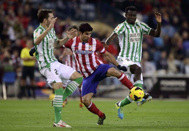 Auch Diego Costa traf gegen Real Betis für Atletico Madrid