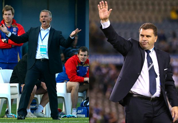 Postecoglou is hailed as Van Egmond despairs