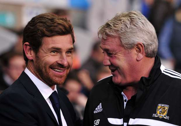 Tottenham's Andre Villas-Boas and Hull City's Steve Bruce