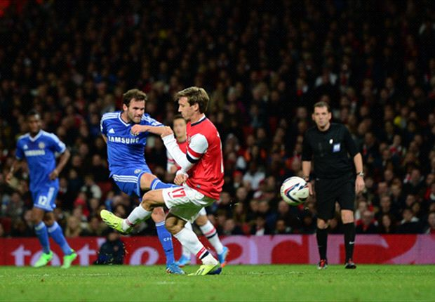 Arsenal 0-2 Chelsea: Mata magic helps Blues overcome below-par Gunners