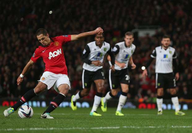 Chicharito bags brace in Capital One Cup triumph