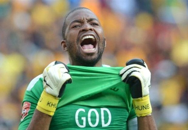 Chiefs and Bafana keeper Khune charged for displaying religious slogan