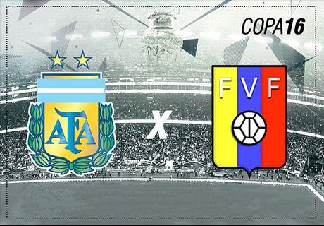 LIVE: Argentina vs Venezuela