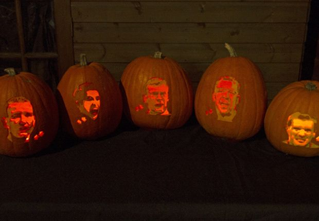Suarez, Terry & Keane - the scariest footballers carved into pumpkins