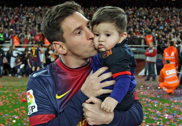 Messi y su heredero, Thiago