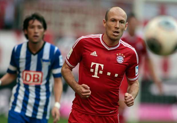 Bayern Munich forward Arjen Robben