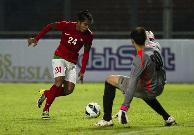 Zulham kala cetak gol kedua ke gawang Kyrgyzstan