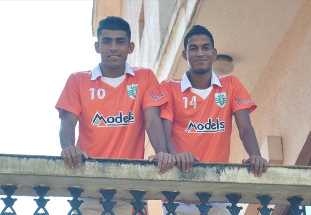 Dawson (L) and Victorino are raring to go (Photo: Sporting Clube de Goa)