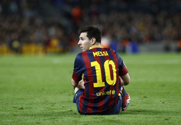 Messi scored against AC Milan in the Champions League.