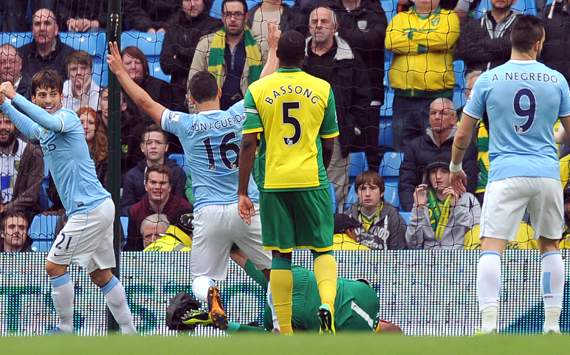 Man City smash seven past torrid Norwich