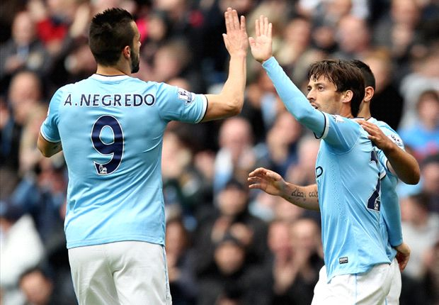 David Silva and Alvaro Negeredo combined well to secure a big win over Norwich.