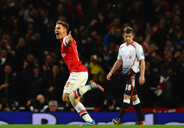 Arsenal 2-0 Liverpool: Ramsey stunner sends Gunners five points clear