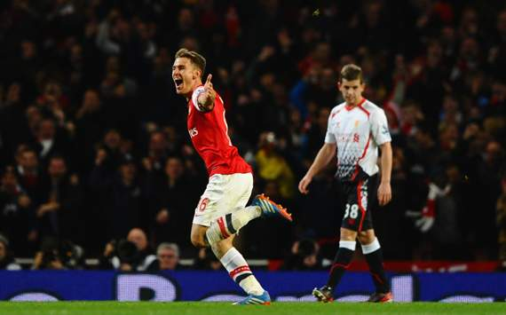 Ramsey stunner sees Arsenal stay top