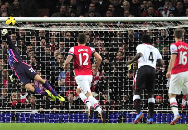 Ramsey stunner sends Gunners five points clear.